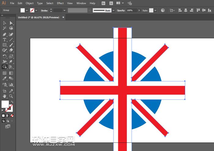 衣领上英国国旗标志怎么设计