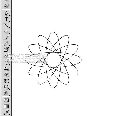 ai如何连续旋转图形图片