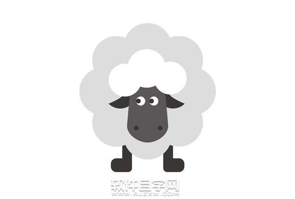 ai怎么画小羊肖恩简笔画