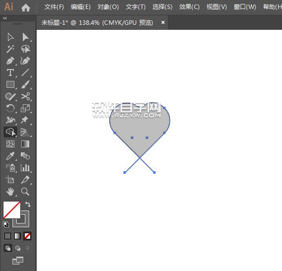 如何用ai矩形绘制一个心形情感图标
