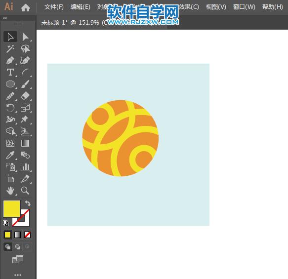ai怎么画宁波银行标志_软件自学网