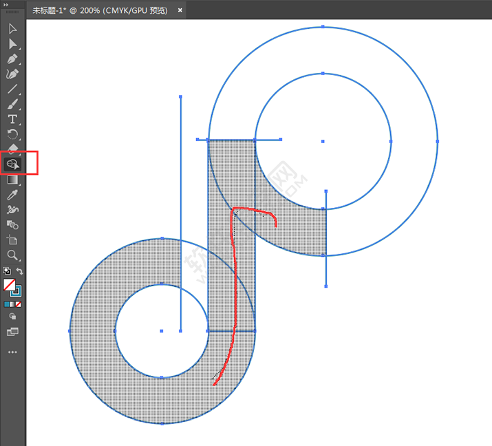 ai怎么设计抖音LOGO_软件自学网