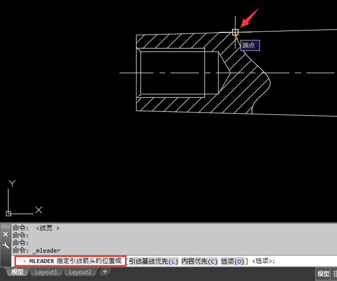 CAD定义多重引线cad标注块快速图片