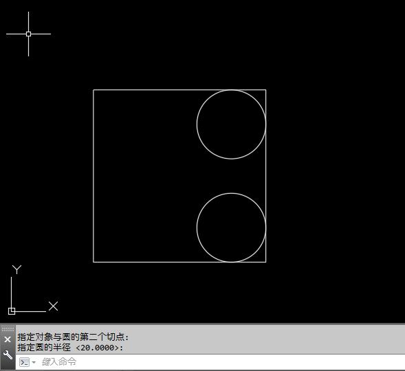 2018cad线型里面画崩塌圆的矩形cad方法相切图片