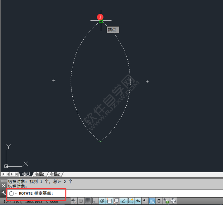 在CAD中怎么旋转复制对象_软件自学网