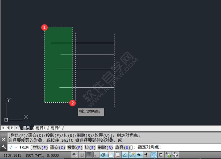 在CAD中怎么快速修剪_软件自学网