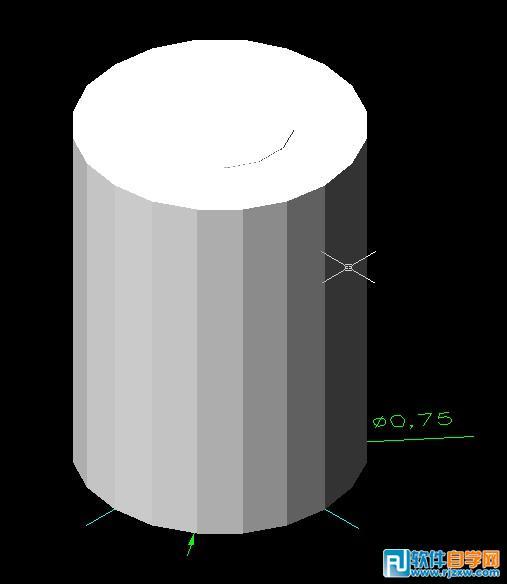 CAD教程:简单教你绘制三维实体机械零件图_软件自学网