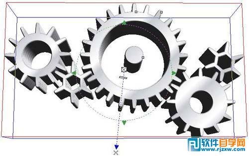 coreldraw教程:教你制作立体齿轮效果