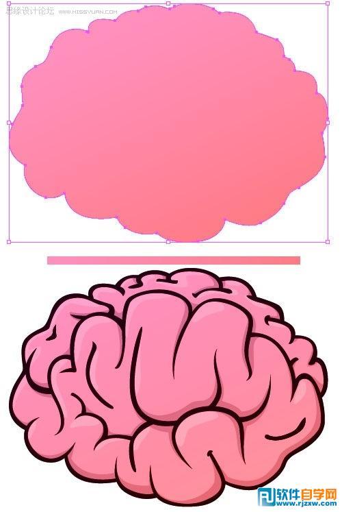 怎么绘制大脑图标