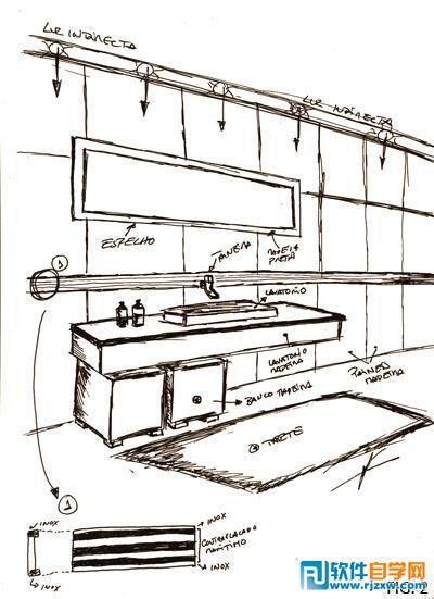 室内卫生间效果图的3DMAX制作流程解析_软件自学网