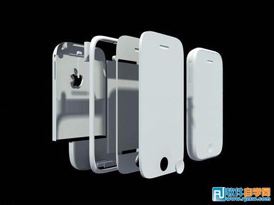 iPhone手机建模与渲染技巧_软件自学网
