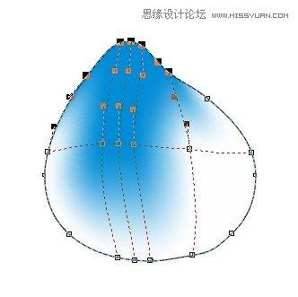 用coreldraw x5的网状填充设计桃子