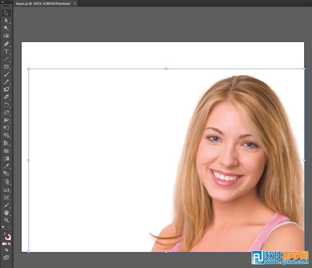 如何将人物照片制作成黑白矢量图_软件自学网