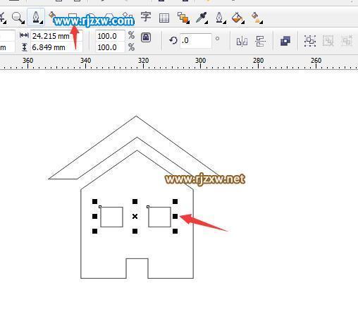 cdr绘制房子图标实例教程 ps教程 3 - 软件自学网
