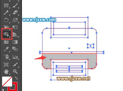 怎么用AICC矩形工具制作打印机图标_软件自学网
