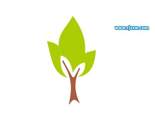 cdrx7设计小树简笔画教程