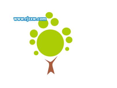 一个简单的小树图标设计