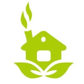 CDR绘制一个环保主题的房子图标