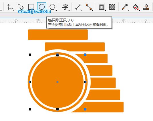 cdrx8制作钱币金币图标的教程
