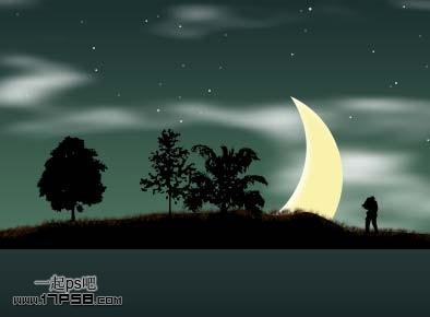 用photoshop制作浪漫爱情的夏夜星空壁纸