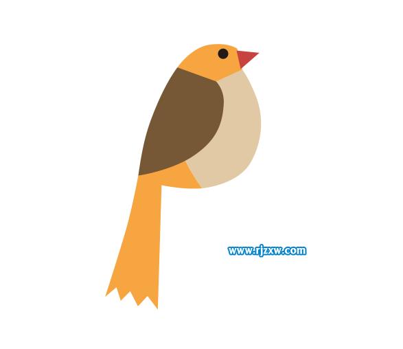 利用CDR贝塞尔小鸟v小鸟工具简笔画2009cad卸载装重不了后图片
