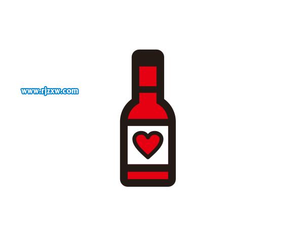 X8绘制红酒瓶简笔画教程