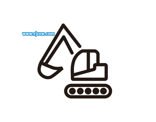 cdr绘制挖土机简笔画教程