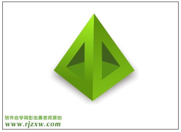 用coreldraw x5制作绿色立体图标