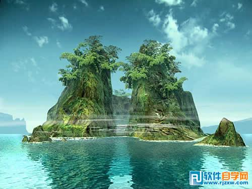 用ps打造山水风景梦幻图片效果