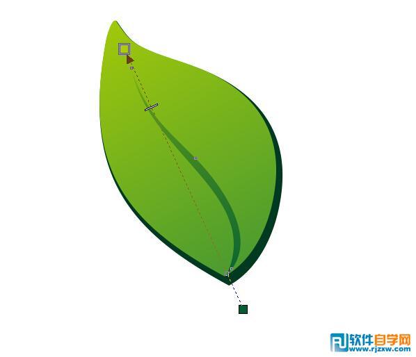 coreldraw x6制作树叶主题的logo设计