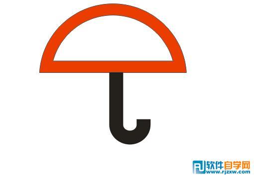 coreldraw x6制作小保伞图标图片