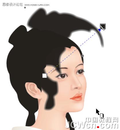 用coreldraw鼠绘古代人物美女实例教程