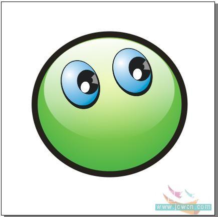 coredrawx7绘制大眼晴笑容的小精灵