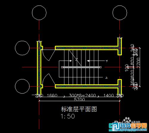 教你怎么用CAD设计楼梯的三维图讲解_软件自学网