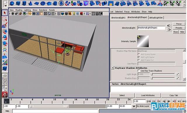 Maya制作室内灯光照明教程_软件自学网