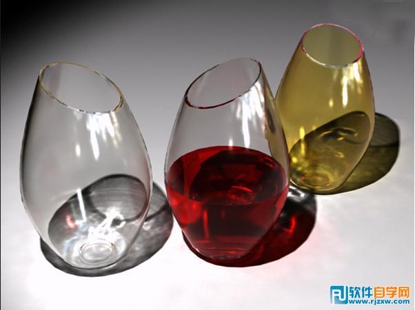 3ds Max制作玻璃酒杯教程_软件自学网