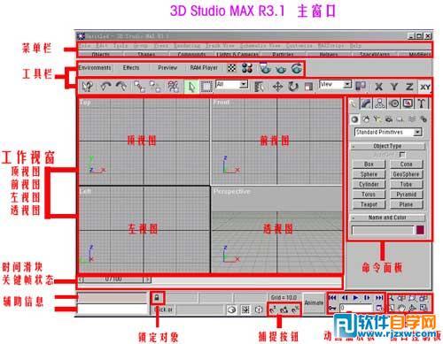 认识3D界面基础教程_软件自学网