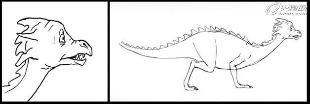 3DSMAX卡通角色设计之小恐龙_软件自学网