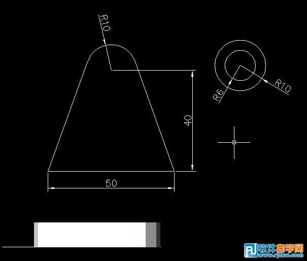 AutoCAD绘制三维机械零件图_软件自学网