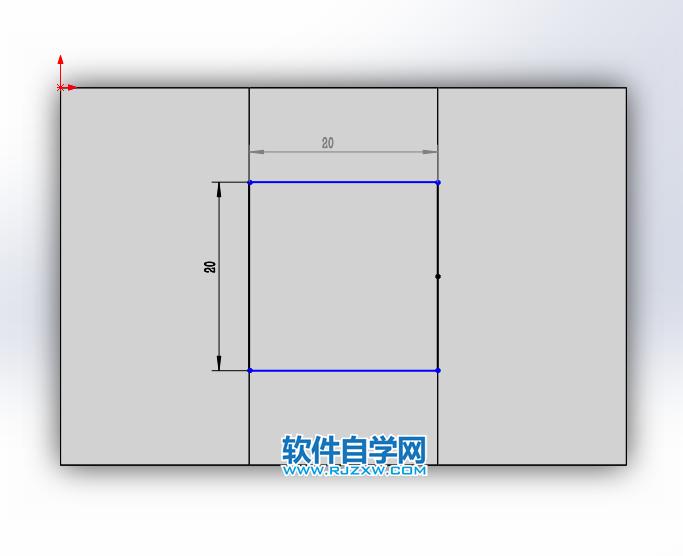 solidworks前视与上视基准面拉伸切除画图