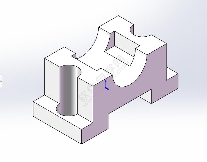 solidworks对称拉伸与镜像做实体_软件自学网