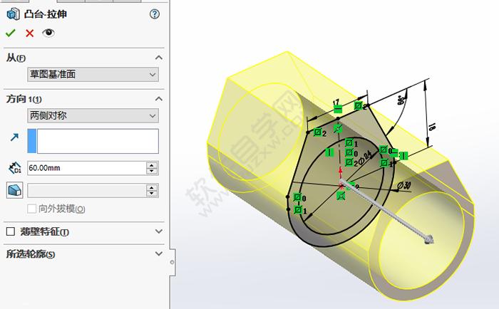 SolidWorks怎么画戒指零件图_软件自学网