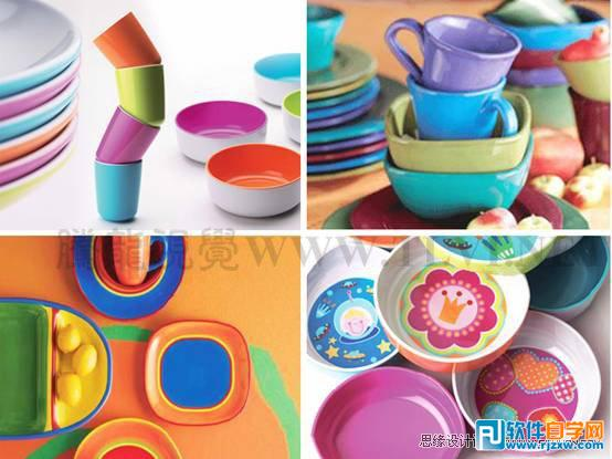 造型可爱的儿童餐具.