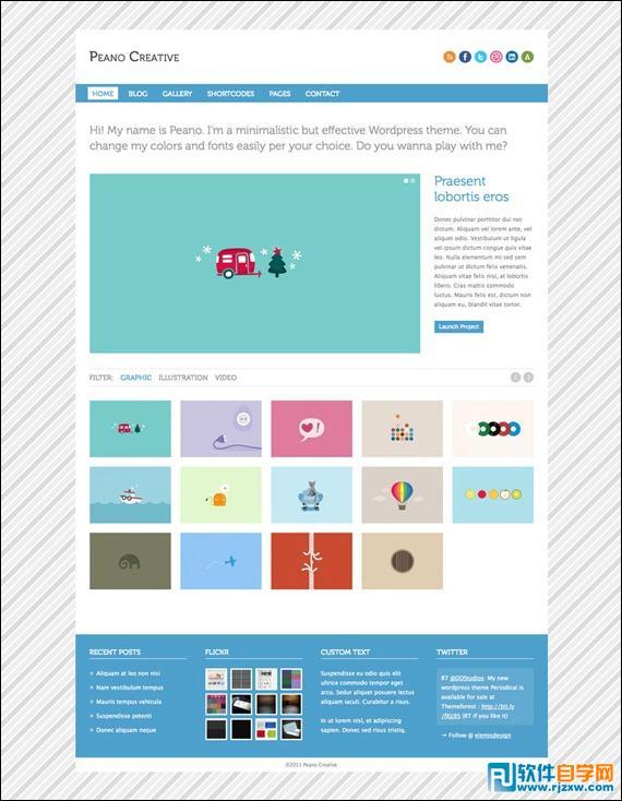 22款国外经典的免费PSD网站模板_软件自学网