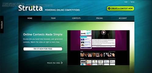 外国最流行的企业网站界面设计