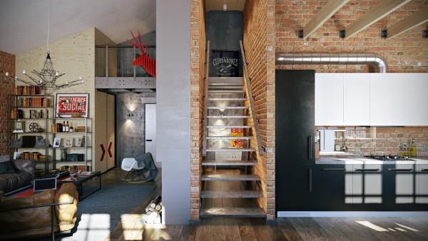充满工业元素风格的室内设计