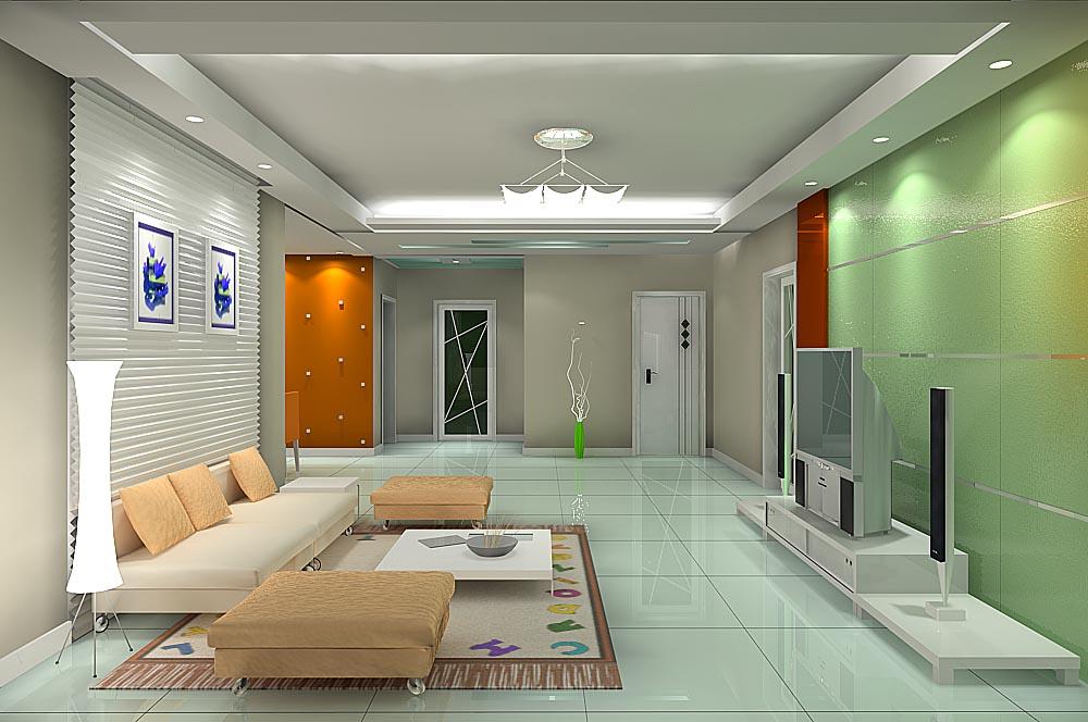 客厅电视墙效果图-室内设计装修效果图欣赏(2)