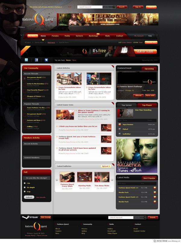国外优秀网页设计作品欣赏