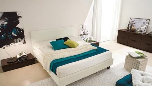 蓝色卧室室内设计欣赏_软件自学网