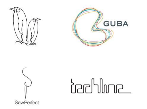 创意线条logo设计